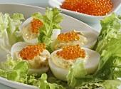 Eggs stuffed with caviare
