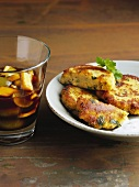 Crispy potato cakes with tamarind chutney, N. India