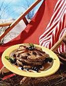 Buckwheat pancake with blueberries