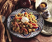 Middle Eastern cauliflower and tomato dish