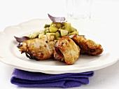 Roast chicken legs with Dijon mustard