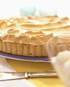 Lime pie with meringue topping