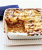 Fish and seafood lasagne
