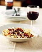 Spaghetti with mince sauce