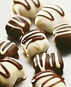 Dark and white chocolates