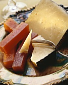 Manchego and Membrillo (Spanish cheese and quince jelly)