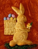 Easter Bunny in yeast dough