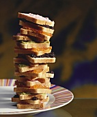 Sandwich tower with caviar