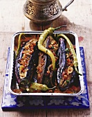 Imam bayildi (Aubergines with vegetable stuffing, Turkey)