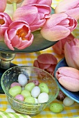 Tulips and sugar eggs