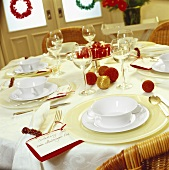 Festive table for Martinmas meal