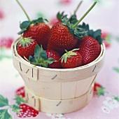 Small basket of fresh strawberries