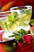 Mint tea with lime