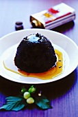 Black rice pudding with maple syrup