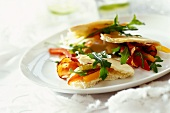 Flatbread with spicy salad