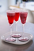 Raspberry liqueur with champagne