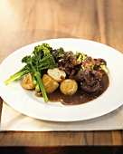 Boeuf bourguignon (beef in red wine, France)
