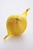 A lemon in a net