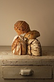 Four different types of bread