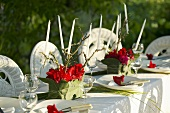Festive table in open air