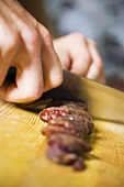 Slicing salami