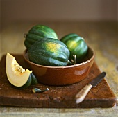 Three acorn squashes