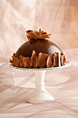Dome of chocolate mousse