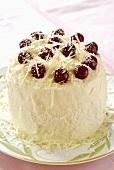 Cherry gateau with white chocolate