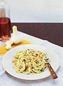 Capellini aglio, olio, peperoncino (Spicy pasta dish)