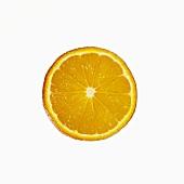 Eine halbe Mandarine