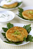 Crispy potato cakes with parsley