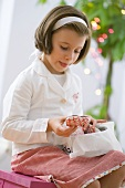 Girl with Lebkuchen for Christmas