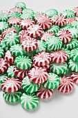 Red & white and green & white striped peppermints
