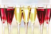 Redcurrant liqueur and saffron liqueur