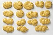 Blobs of mustard
