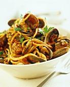 Pasta alle vongole (Nudeln mit Venusmuscheln, Italien)