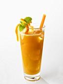 Orange and papaya drink