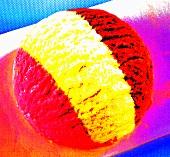 A scoop of ice cream