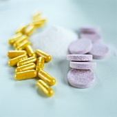 Vitamins in form of capsules, powder & effervescent tablets