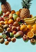 Various types of fruit (pineapples, oranges, kiwi fruit etc.)