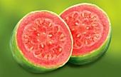 Halved guava