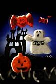Halloween biscuits (pumpkin, ghost and bats)
