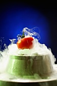 A tomato on dry ice