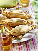 Tamales and beer for a picnic