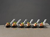 Asian crab tartare on spoons
