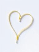 Spaghetti forming a heart
