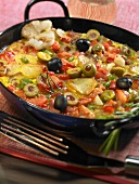 Andalusian omelette with potatoes, olives, tomatoes & onions
