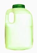 Skimmed milk in a plastic bottle