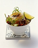 Spicy glass noodle salad with beef