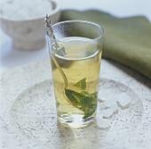 A glass of mint tea